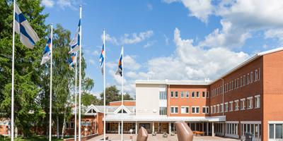 Lapin yliopiston kampusta ulkoapäin kuvattuna.